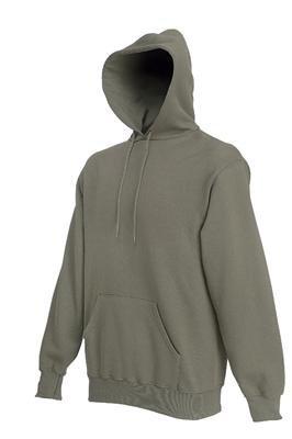 Sweatshirt * Hooded Sweat * Fruit of the Loom OLIV,L Olive,L