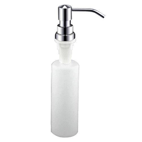 Seifenspender Duschlotionsspender Edelstahl Presser Duschgel Box Spüle mit Waschmittel Flasche Presse Flasche (Color : Weiß, Size : 27 * 4.8cm)