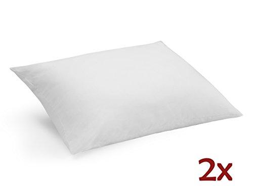 Savel coppia di cuscini (pack da 2 guanciale) in microfibra extra-morbida con trattamento antiacari, 50x80cm