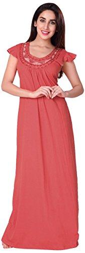 Honeydew Womens Cotton Nightwear ,Red ,Free Size