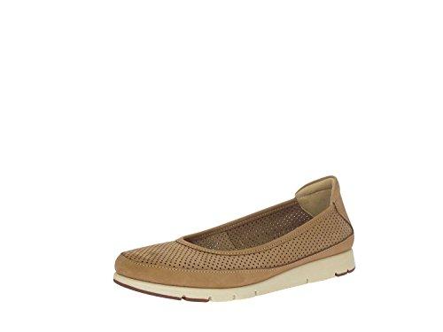 FRAU FX 51G2 taupe marrone scarpe donna ballerine pelle fori linea comfort Marrone