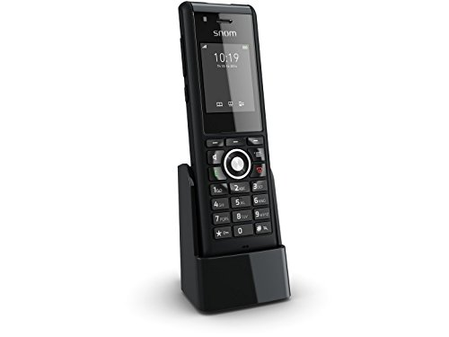 Snom Industrial Handset M85 (Programmable Alarm Key, Dead Man's Feature, 3.5 mm Headset Jack) Black -