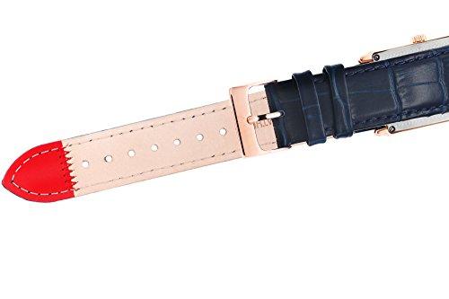 Yonger & Bresson–UNHCR 1706–03–Herrenuhr–Quarz–Analog Zifferblatt Beige–Armband Leder marineblau - 3