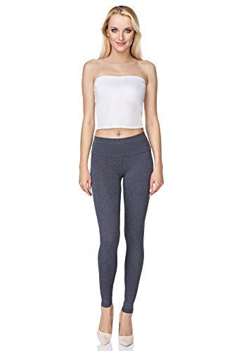 FUTURO FASHION FUTURO FASHION Frauen in voller Länge Baumwolle Leggings weich, plus Größen hohe Taille LWP