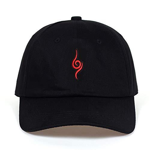 FGHJKV Papa Hut 100% Baumwolle Japanische Akatsuki Uchiha Familie Logo Stickerei Baseball Caps Schwarz Hysteresenhüte (Japanische Baseball-hüte)