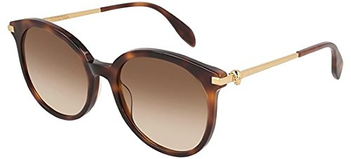 Alexander mcqueen occhiali da sole am0135s havana/brown shaded donna