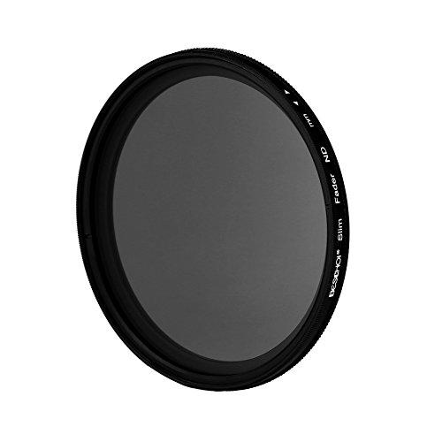 Beschoi - 52MM Filtro Ultra-delgado de Densidad Neutra Ajustable ND Fader Variable Filtro ND2 a ND400 Filtro para Nikon D5300 D5200 D5100 D3300 D3200 D3100 DSLR Cámaras + Paño de Limpieza Microfibra