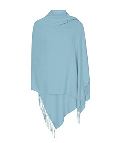Pashminas & Wraps Baby Blau Hergestellt in Italien (37 Schöne Farben Erhältlich) Pashmina Schal Stola Umschlagtücher Tuch für Damen - Super Weich - Exklusiv von Pashminas & Wraps aus London