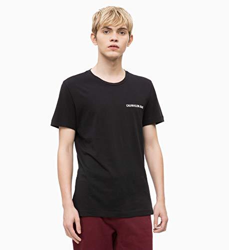 24dc469dd4 Calvin Klein Jeans Chest Institutional Slim SS tee Camiseta, Negro (CK  Black 099), Large para Hombre