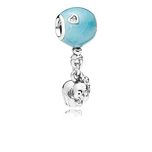 Pandora Moments Elephant & Blue Balloon Damen Charm Anhänger 925 Sterlingsilber 30 x 10 mm