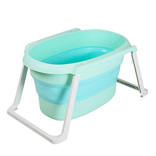 A~LICE&YGG Faltende Badewanne, die Badewanne der tragbaren Kinder Neugeborenes Baby-gepolsterte Plastikbadewanne-Ausgangsgroßer Raum kann sitzen und Sich hinlegen