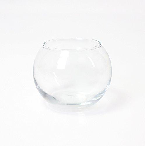 Jarrón redondo - Maceta decorativa TOBI, transparente, 8 cm, Ø 9,5 cm...