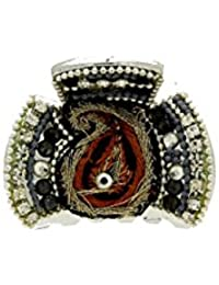 Anuradha Art Silver Finish Very Classy & Stylish Designer Hair Accessories Classy Clutcher For Women/Girls