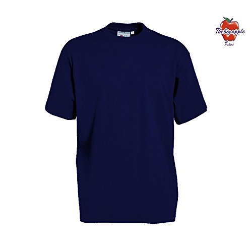 Set 5 Pezzi T-Shirt Maglietta The Big Apple 100 % Cotone - XL, Blu