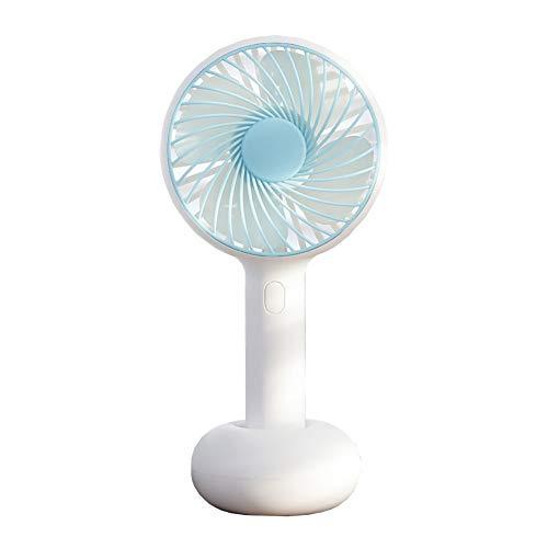 JINRU Mini Personal Fan - USB Aufladbar, Mit Mehrfarbigem LED-Licht, 2 Einstellbaren Geschwindigkeiten, Perfekt Für Indoor- Oder Outdoor-Aktivitäten,Blue