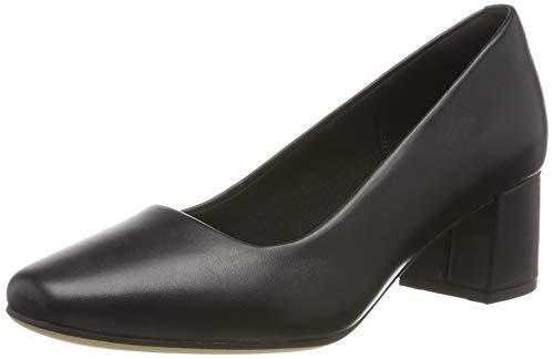 Clarks Damen Sheer Rose Pumps, Schwarz (Black Leather), 41.5 EU