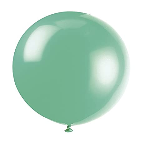 Unique Party - 56731 - Paquet de 6 Ballons Géants - Latex - 90 cm - Vert Fougère