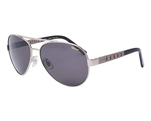 Chopard Sonnenbrillen (SCHB-12 A40P) silber - schwarz - graufarben polarisierte