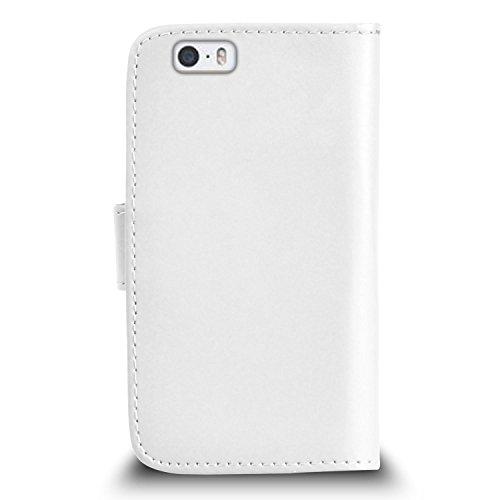 """Apple iPhone 6 / 6S Plus (5.5"""" Inch) Pack 1, 2, 3, 5, 10 Protecteur d'écran & Chiffon SVL2 PAR SHUKAN®, (PACK 5) Portefeuille BLANC"""