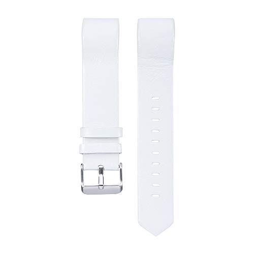 Takkar Ersatzband für Fitbit Charge 2 Armband - Klassisches Echt Leder Uhrenarmband Lederarmband Band Watchband mit Metallschließe für Fitbit Charge 2 - modisch, hochwertig und hautfreundlich (Leder-uhrenarmbänder Hochwertige)