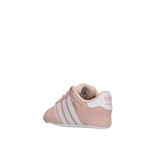 adidas Gazelle Crib, Sneakers Mixte Bébé Rose (Icey Pink F17/ftwr White/gold Met.)
