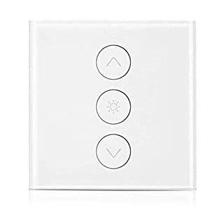 Smart Dimmer Switch, Orbeor WiFi Touch Wall Light Dimmer Switch Works with Alexa/Google Home/IFTTT, 1 Gang App Remote Control, Timming Function, 2A 400W, White(Neutral Wire Required)