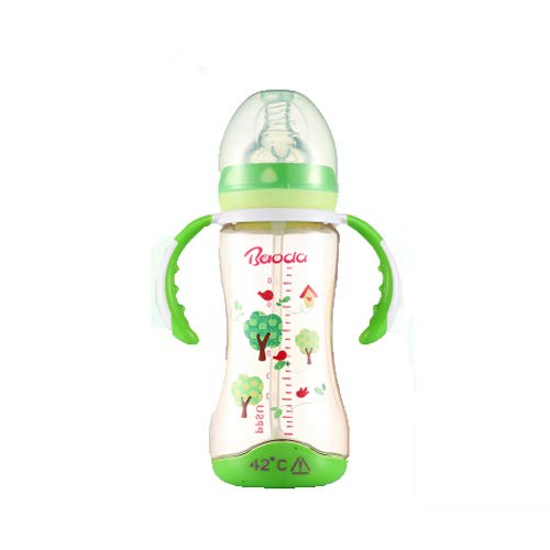 Biberon Temperature Intelligent Couleur bébé Grand diamètre Paille Automatique 180 / 300ml