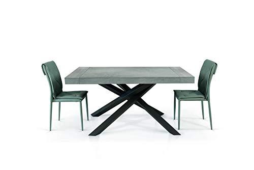 Fashion commerce tavolo fc1613, legno, beton, 160x90