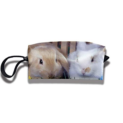Travel Make-Up Bags Easter Eggs and Cute Bunny Women Cosmetic Bag Multifuncition Durable Pouch Zipper Organizer Bag