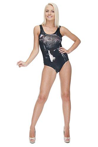 Women'Mädchen Teenager Damen Einteiliger Badeanzug High Cut, Strand, Pool Badeanzug, Bikini All Over Druck Mehrfarbig - Usa