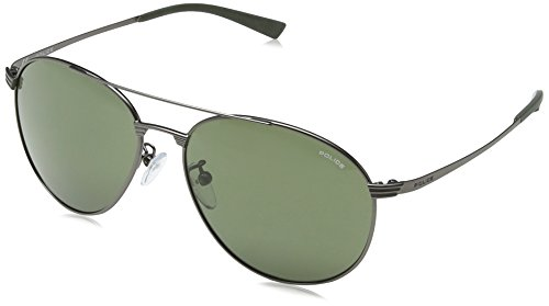 Police occhiali da sole s8953 rival 2 rotondi, matt gunmetal frame/grey/green lens