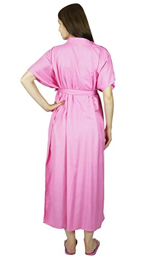 Bimba maternité Kaftan Ceinture Nursing Nuit robe, boutons avant, Baby Shower Gift Rose