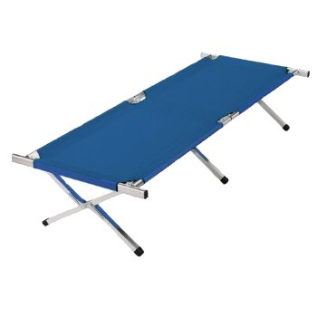 Kronenburg XXL Campingbett Feldbett 210 cm x 72 cm x 45 cm - Belastbarkeit bis 200 kg - in Blau