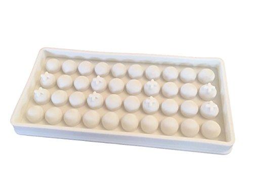 ROYAL HOUSEWARE 3D Eisbällchen Pralinen Kugeln Silikonform Backform Kuchenform Kugel Schokoladenform Eiswürfelform Pralinenform Basteln Backen Form