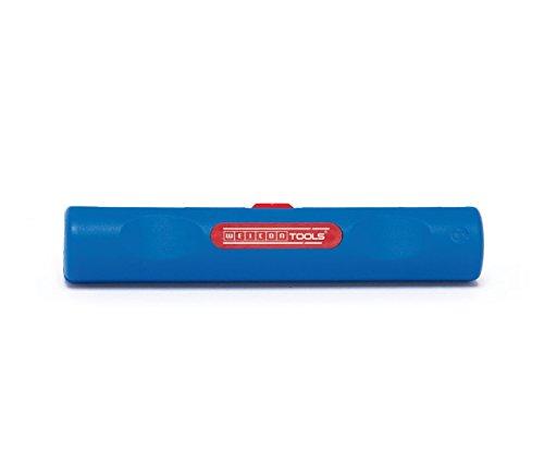 WEICON Coax-Stripper No.2 | Abisolierer für Koaxialkabel | Abisolierzange für Sat-Kabel und Antennenkabel  4,8 - 7,5 mm Ø | voreingestellte Schnitttiefe | TÜV | blau / rot | 100{5f1f88ce28fb81a6c53c9d9ebc922251e76bff5dbada1c8ac72b100a14b59242} Made in Germany