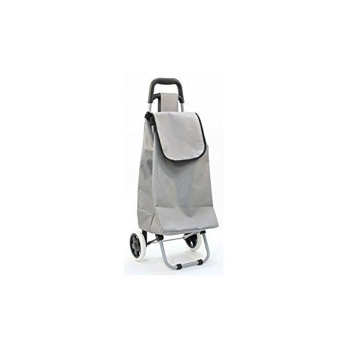Chariot de marché uni couleur taupe - 117014