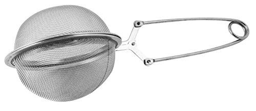 FACKELMANN 49162 7,6cm Klappgriff Teekugel, Edelstahl, Silber