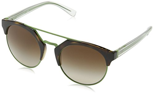 Emporio armani 0ea4092 502613 53, occhiali da sole donna, marrone (havana/apple/browngradient)