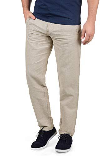 Indicode Ledionos Herren Leinenhose Lange Stoffhose Regular Fit, Größe:L, Farbe:Fog (004) -