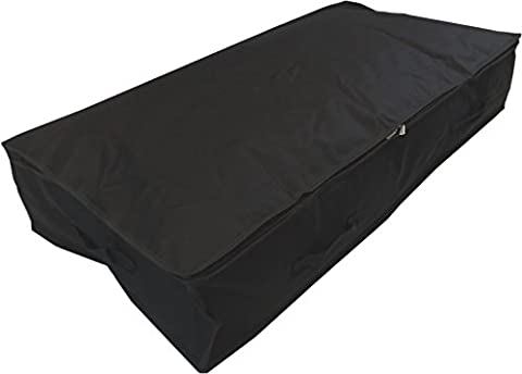 Stupidly Useful Underbed Storage Bag – Heavy Duty - Strong 600D Polyester Material With 4x Web Reinforced Handles - For Clothes, Duvets & Bedding - Alternative to Blanket Box (Large 85 Litres,