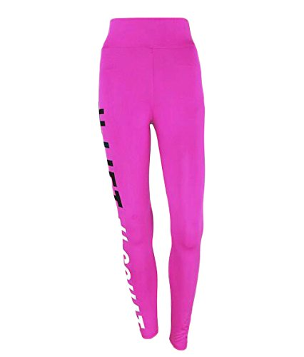 Auxo 3 Couleurs Femme Casual Sexy Serré Sports Yoga Joggings Imprimé Jambières Pantalons Leggings Rose