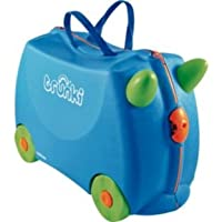 Travelling effortless and fun!!Terrance Ride-On Suitcase - Blue.