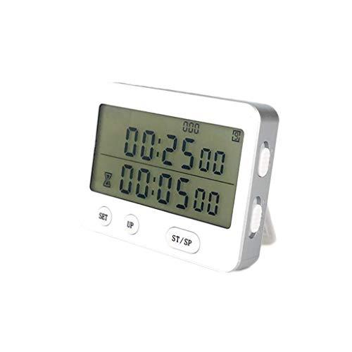 Minuterie adaptée aux besoins du client 25 minutes d'étudiant de gestionnaire temporel de vibration silencieuse en boucle automatique (Color : White)