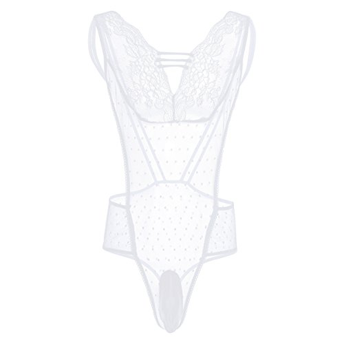 bbce88a3722 CHICTRY Men's One Piece Lingerie Thong Sissy Pouch Panties Xdress Nightwear  White Large - Buy Online in UAE. | Apparel Products in the UAE - See  Prices, ...