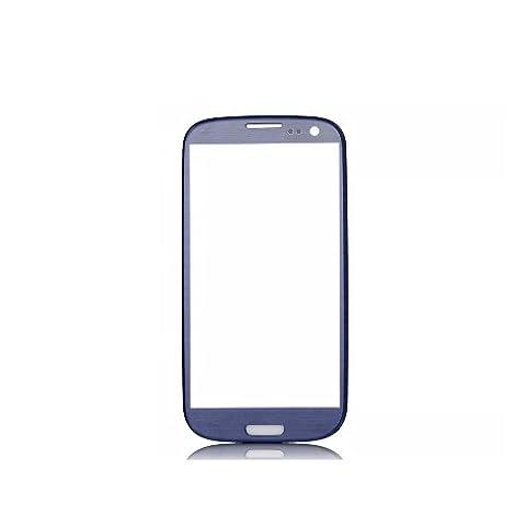 BisLinks® Samsung Galaxy S3 i9300 Pebble Bleu Façade en verre (Non Digitizer LCD)