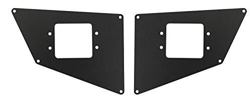 Go Rhino 281731T Textured Black Powder Coat Finish Rear Light Plate (BR20) by Go Rhino! - Black Powder Coat Finish