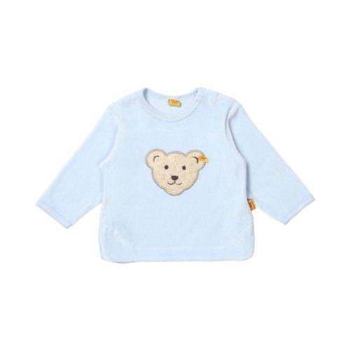 Steiff Unisex - Baby Sweatshirt Classics Nicky 0002881, Gr. 68, Blau (baby blue 3023)