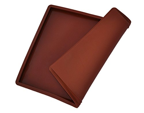 Silikon Backmatte Premium 36cmx28cmx1,5cm groß, mit Rand, wiederverwendbar, antihaftbeschichtet, rutschfest, Lebensmittelecht BPA-frei und geruchslos, bis 260° hitzebeständig