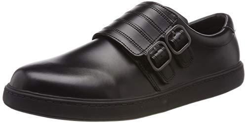 Clarks Baby Jungen StreetStride Y Slipper, Schwarz (Black Leather), 42 EU
