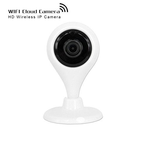 Shengyaohul Full HD 720P Cámaras De Seguridad Ip Doméstica, Indoor White Home Security Cámara Ip With Alarma De Vídeo / Detección De Movimiento / Infrarrojos De Visión Nocturna Domótica Cámaras De Seguridad